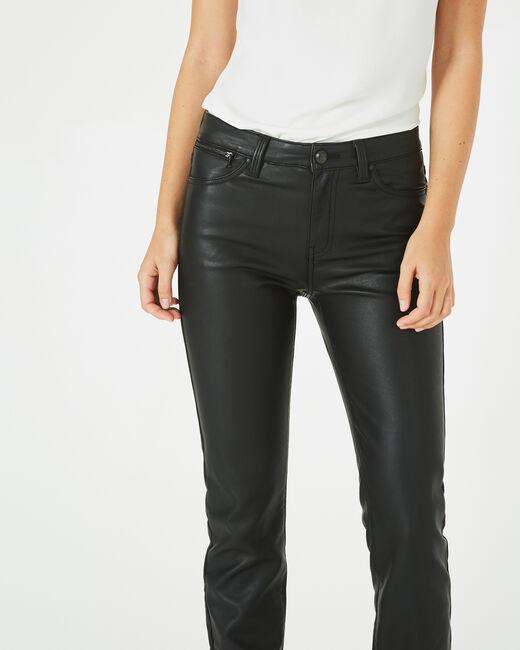 Pantalon noir slim faux cuir William (2) - 1-2-3