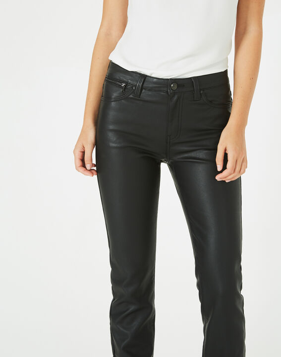 Pantalon noir slim faux cuir William (2) - Maison 123