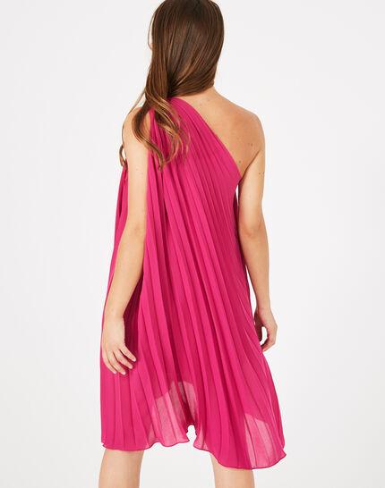 Gabrielle asymmetric raspberry dress (5) - 1-2-3