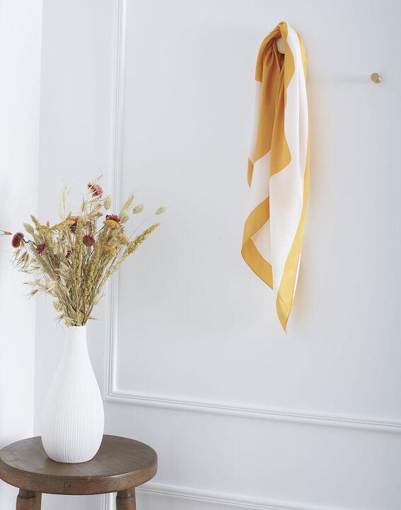 Carré de soie anis imprimé floral Ollie (1) - Maison 123