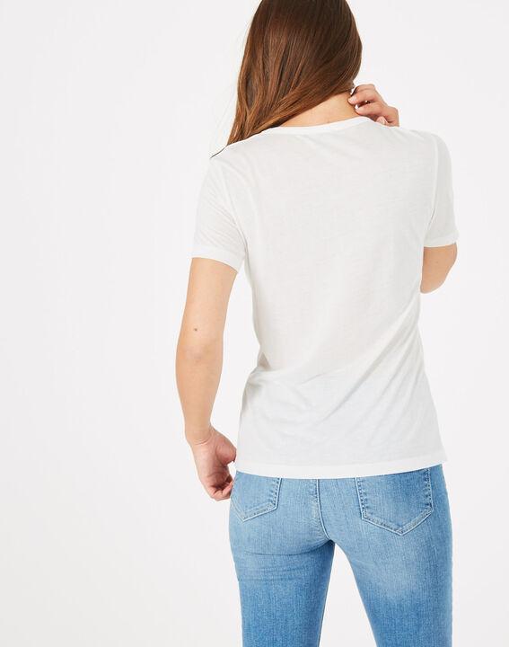 Tee-shirt imprimé en modal Bouche (5) - 1-2-3