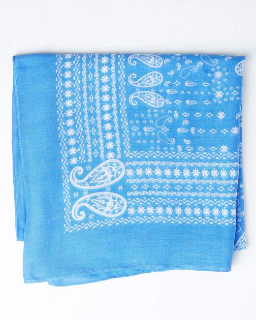 Foulard imprimé bandana bleu ciel Amor (1) - 1-2-3