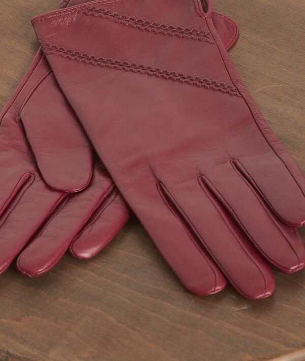 Gants en cuir rouges Veronica PhotoZ | 1-2-3