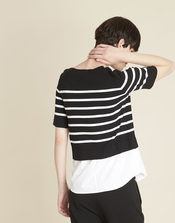 Brise black striped sweater-shirt (4) - 1-2-3