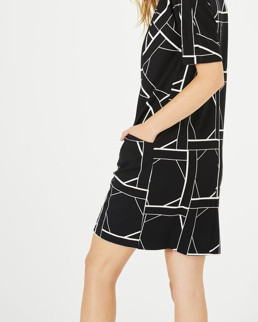 Armance black and white checked dress (1) - 1-2-3