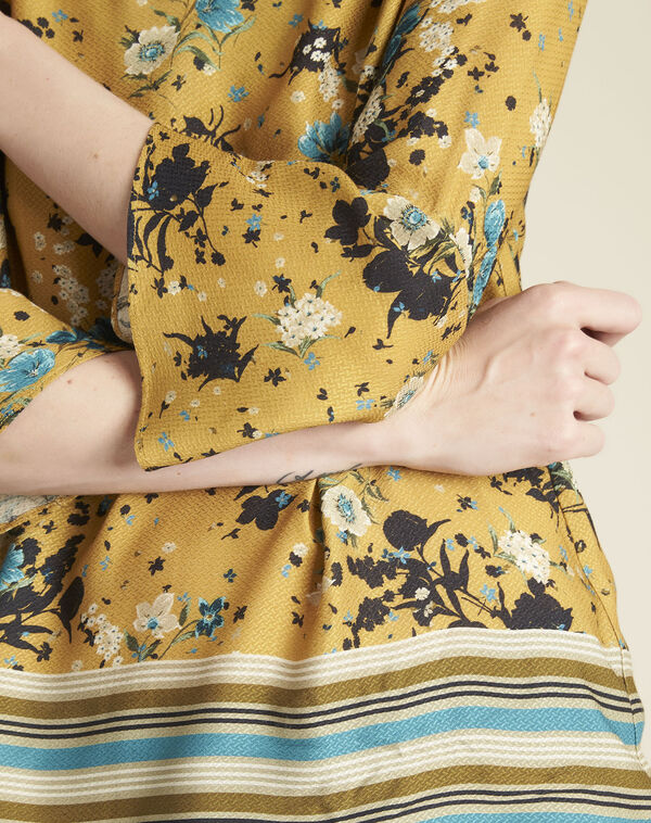 Gele blouse met bloemenprint Enrica (2) - 37653