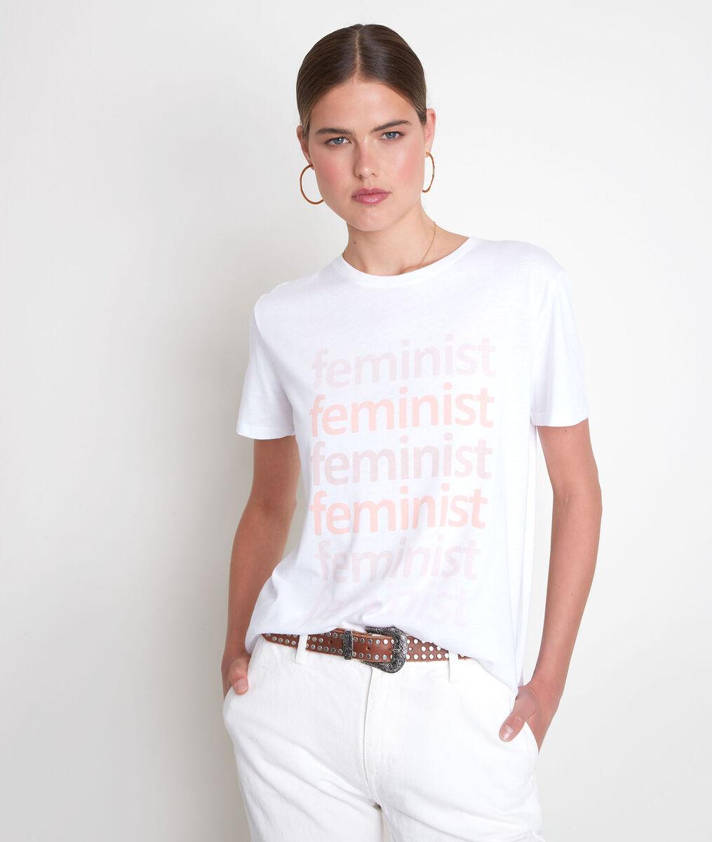 Tee-shirt en coton biologique à message blanc Emma PhotoZ | 1-2-3