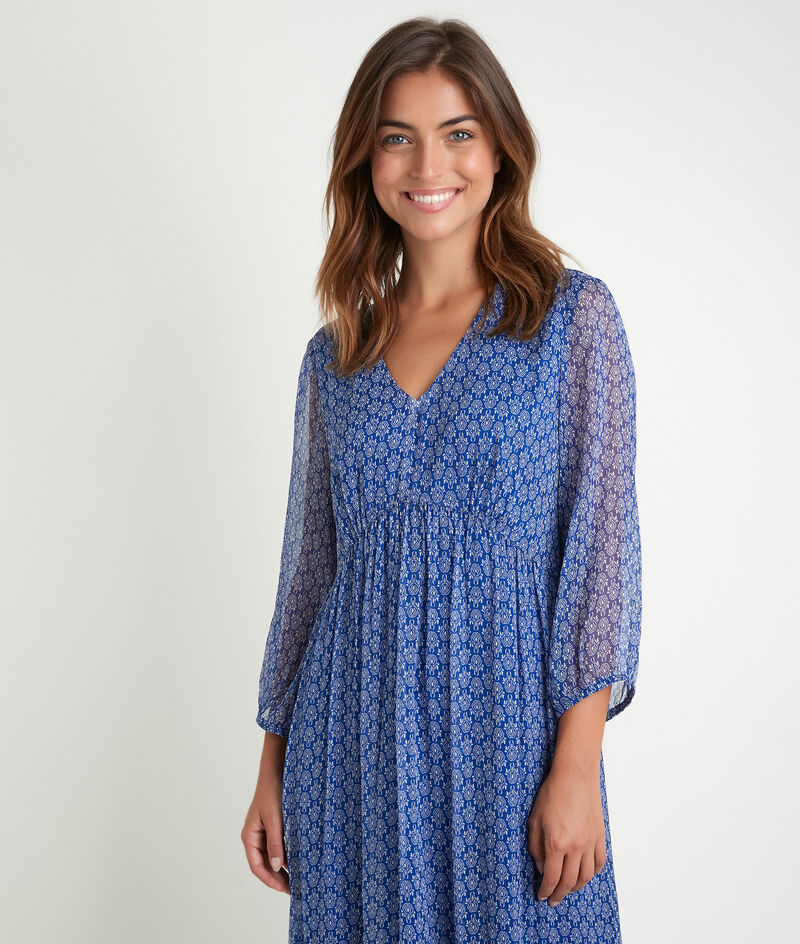 Lange jurk met print Claudi bis PhotoZ | 1-2-3