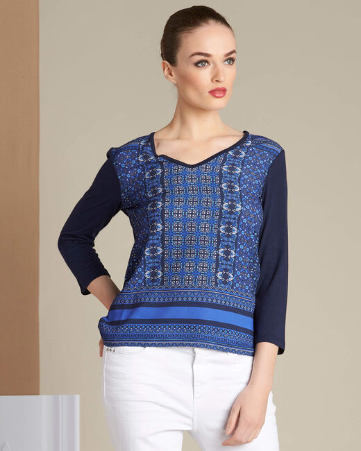T-shirt bleu roi imprimé Eballon (2) - 1-2-3