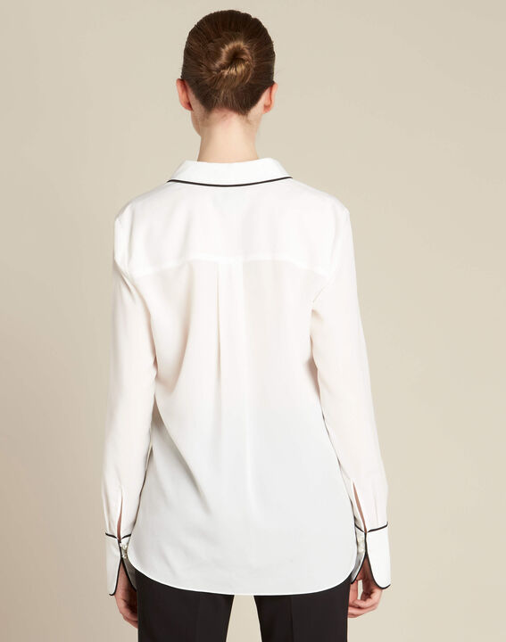 Darianne white blouse with trim (4) - 1-2-3