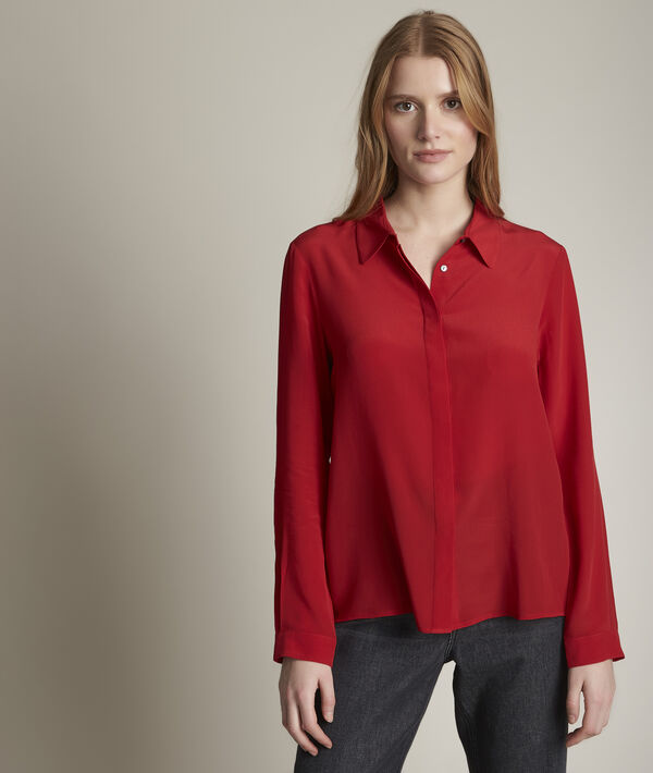Chemise en soie rouge Maelle PhotoZ | 1-2-3