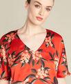 Blouse rouge imprimé fleuri Romy PhotoZ | 1-2-3