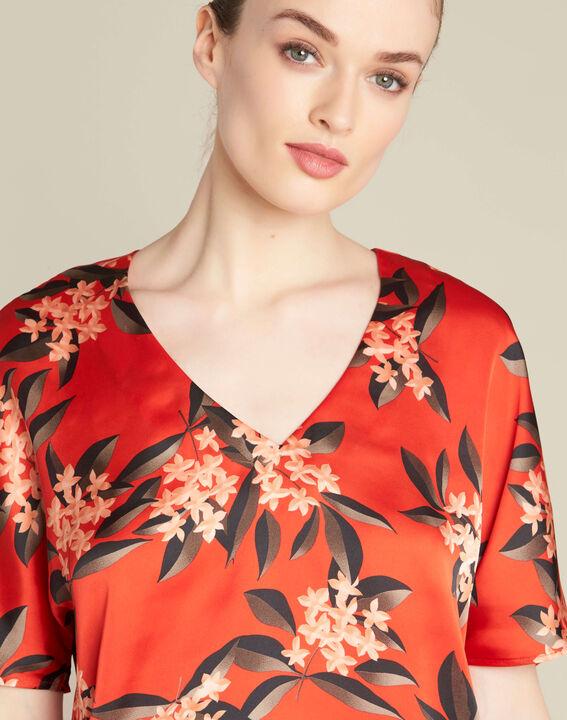 Blouse rouge imprimé fleuri Romy (1) - 1-2-3