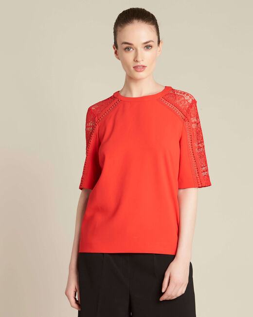 Gastel red lace top (2) - 1-2-3