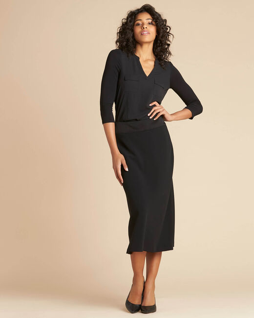 Frost long black pencil skirt (2) - 1-2-3