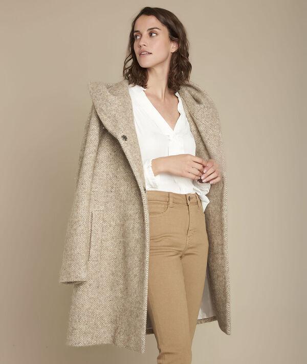 Beige Mantel aus Wolle Edwin PhotoZ | 1-2-3