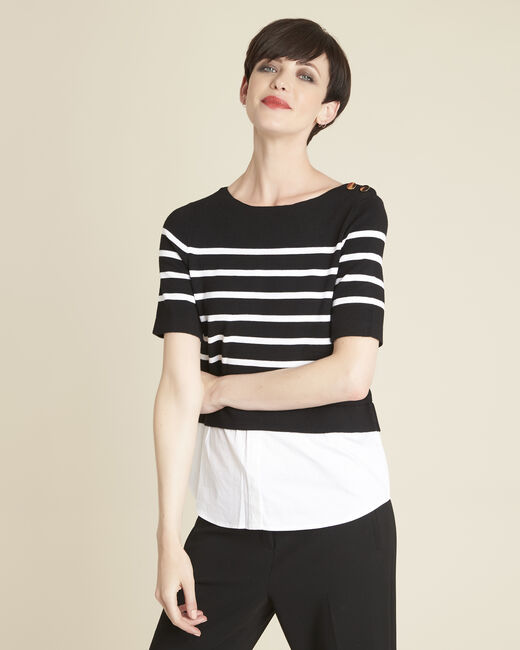 Brise black striped sweater-shirt (2) - 1-2-3
