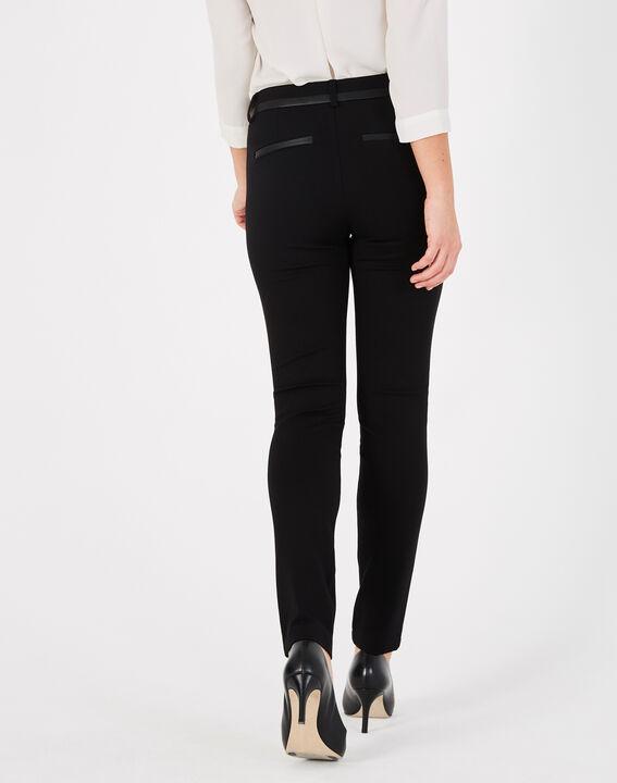 Pantalon noir imitation cuir slim Kali (4) - 1-2-3