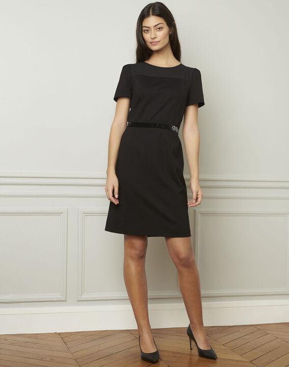 Zwarte jurk met strassteentjes Ness (2) - Maison 123