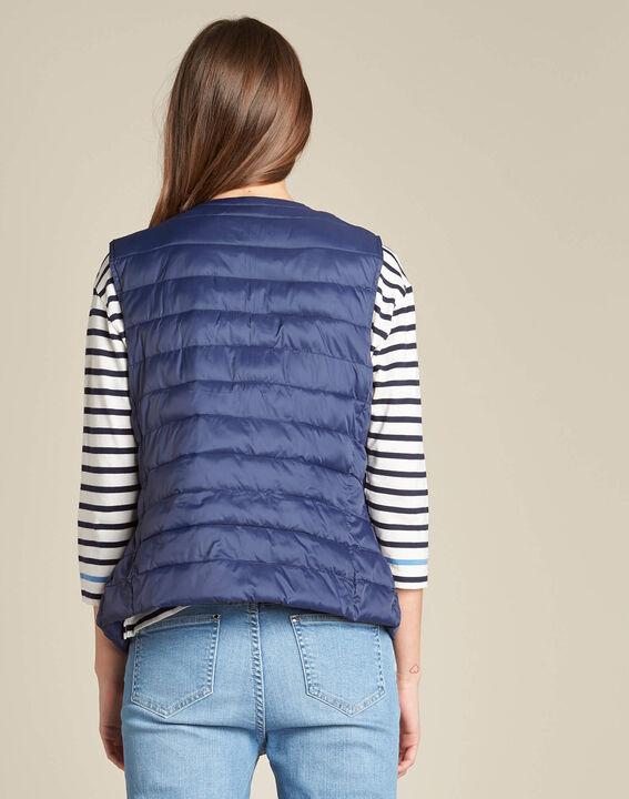 Yvanka navy blue sleeveless padded coat (4) - 1-2-3