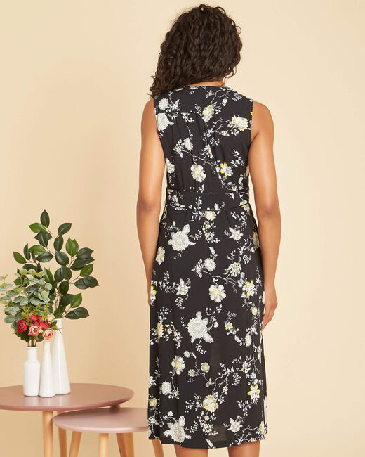 Philomene long black print dress  (2) - 1-2-3