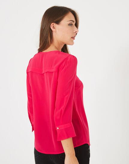 Dorothée fuchsia silk blouse (4) - 1-2-3