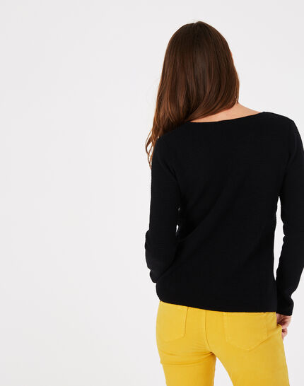 Pull noir col rond Paradis (4) - 1-2-3