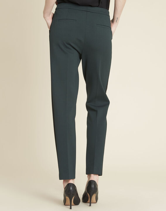 Vadim emerald green tapered Milano trousers (4) - 1-2-3