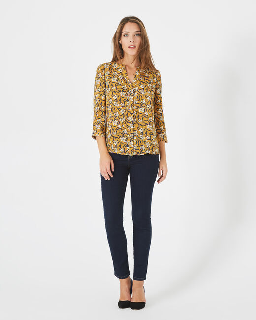 Arletty bis yellow printed blouse (1) - 1-2-3