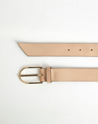 Renata beige leather belt camel.
