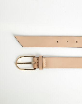 Renata beige leather belt camel.