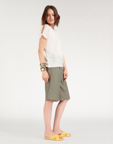 Tee-shirt écru imprimé géométrique Nanako (2) - 1-2-3