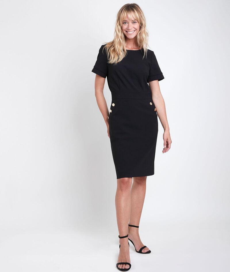 Zwarte jurk van microvezel Capucine PhotoZ   1-2-3