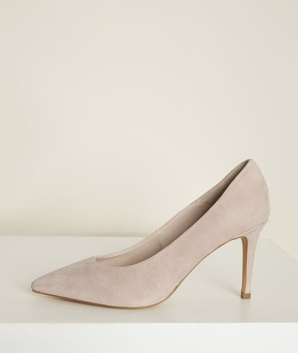 Escarpins en cuir velours nude Kelly PhotoZ | 1-2-3