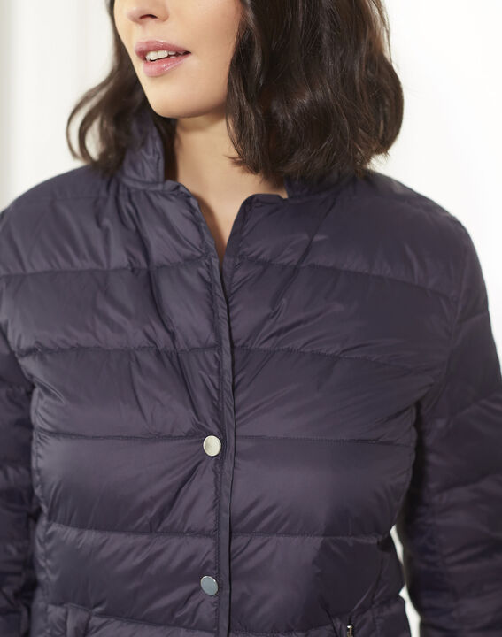 Penny short navy down jacket with beige lining (3) - Maison 123
