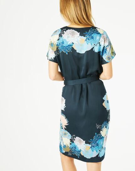 Robe bleu marine imprimée Griotte (5) - 1-2-3
