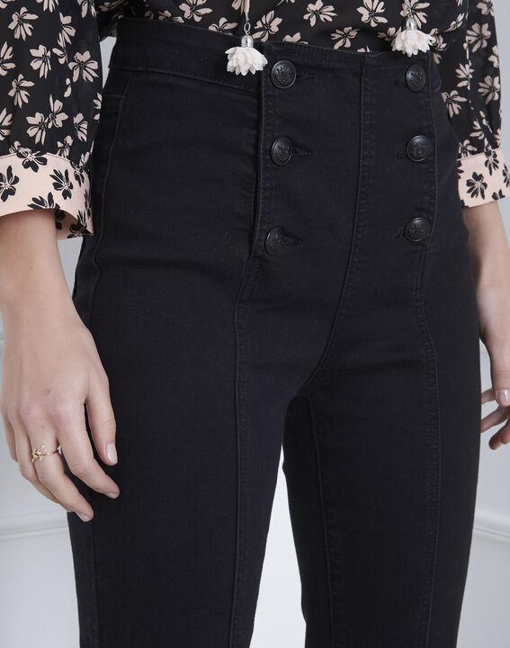 Schwarze Bootcut-Jeans Caella (3) - Maison 123