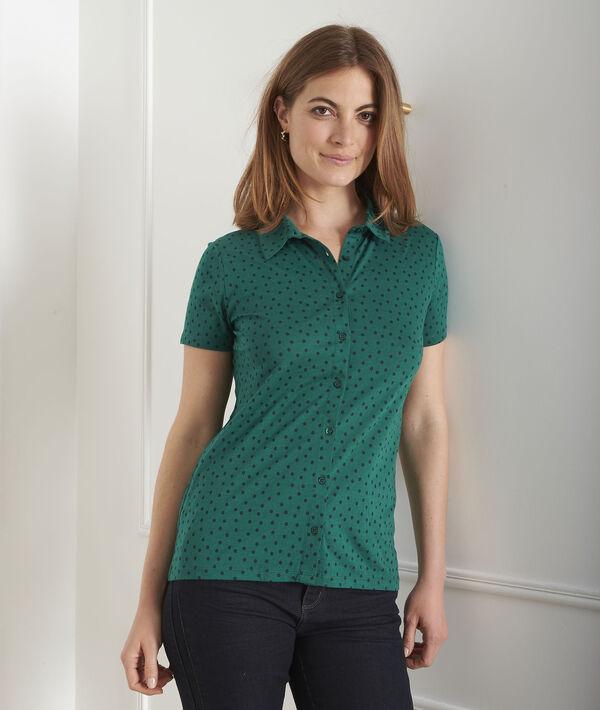 Grünes T-Shirt mit Pünktchen-Print Patty PhotoZ   1-2-3