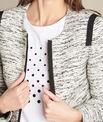 Tweed-Jacke mit Ripsband-Details Clelia PhotoZ | 1-2-3