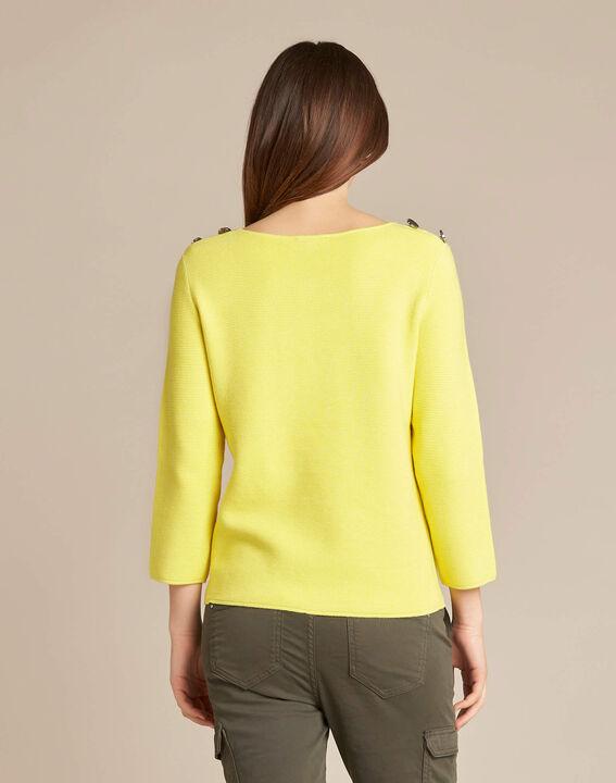 Zitronengelber 3/4-Arm-Pullover Neroli (4) - 1-2-3