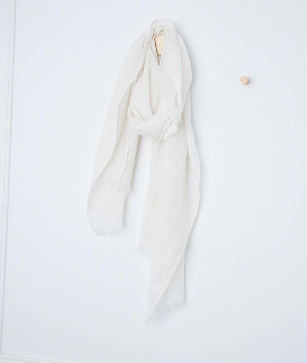 Foulard en coton biologique beige Brooklyn PhotoZ   1-2-3