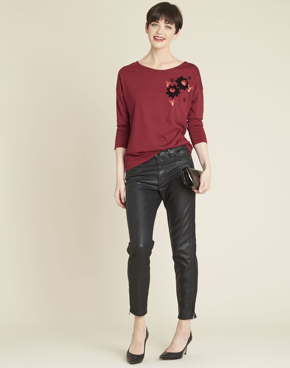 Gini embroidered red t-shirt (2) - 1-2-3