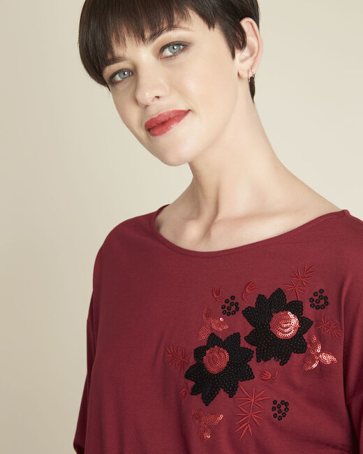 Tee-shirt rouge brodé Gini (2) - 1-2-3