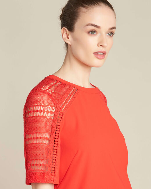 Gastel red lace top (1) - 1-2-3