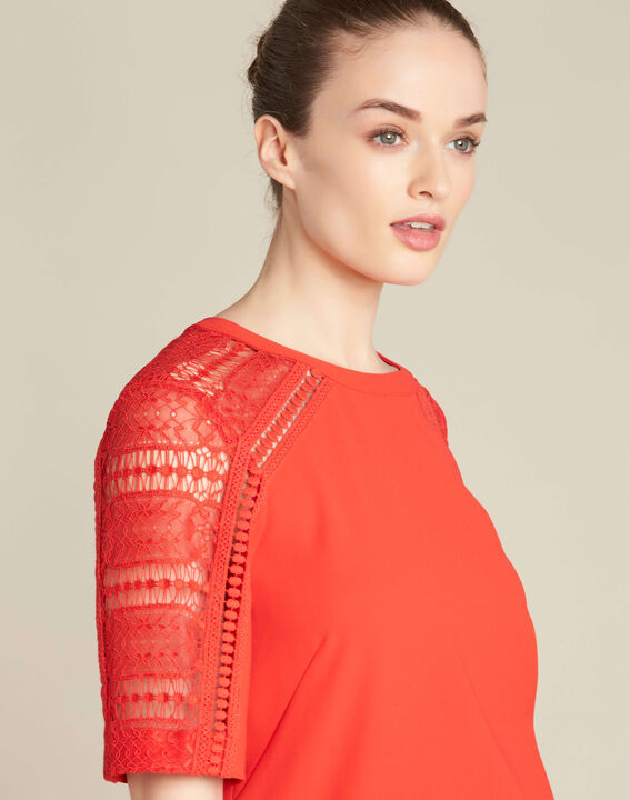 Gastel red lace top PhotoZ | 1-2-3