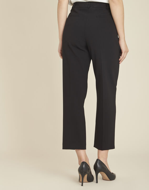 Hermane wide-leg black 7/8 length trousers (4) - Maison 123