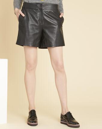 Harley leather shorts black.