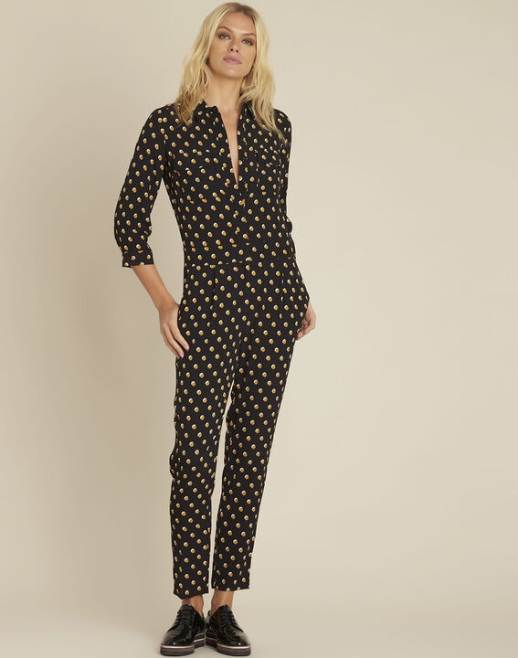Dominique black polka dot jumpsuit (3) - 1-2-3