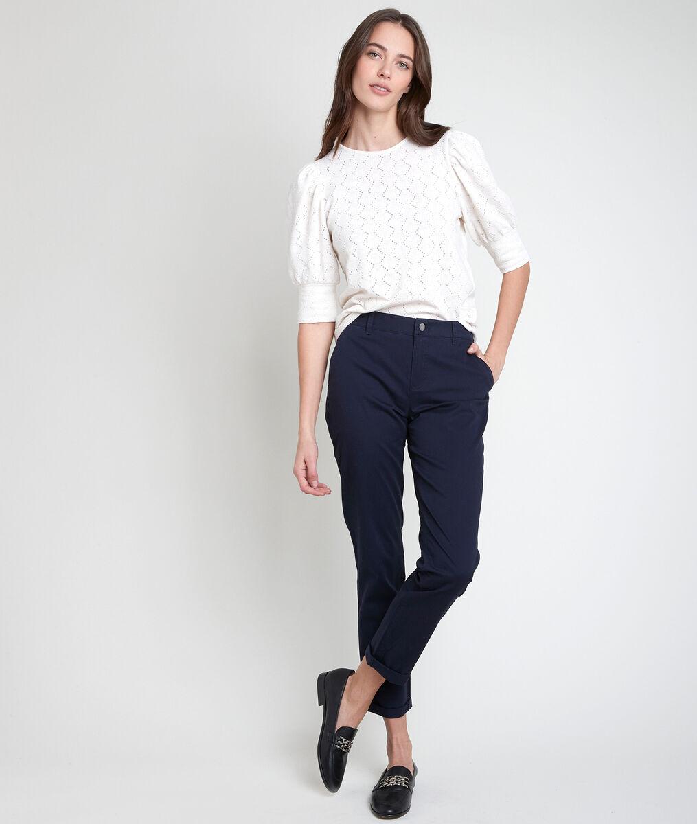 Pantalon chino en coton biologique marine Francis PhotoZ | 1-2-3