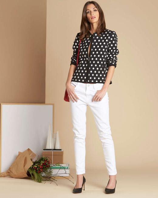 Charlotte polka dot vest with contrasting trim (1) - 1-2-3
